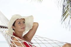 Donna nella rete Fotografia Stock