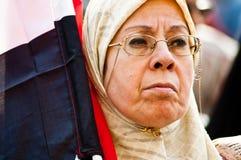 Donna nella rivoluzione araba Fotografie Stock Libere da Diritti