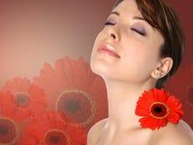 donna nella stazione termale dello skincare Fotografia Stock