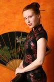 Donna nello stile cinese Immagine Stock Libera da Diritti