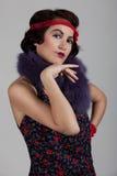 Donna nello stile di 1920-1930 Immagine Stock