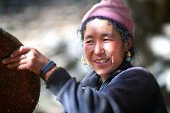 Donna nepalese Fotografia Stock Libera da Diritti