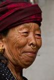 Donna nepalese anziana, Chitwan, Nepal Fotografia Stock Libera da Diritti