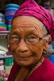 Donna nepalese anziana, Chitwan, Nepal Fotografie Stock Libere da Diritti