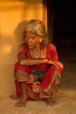 Donna nepalese anziana, Chitwan, Nepal Fotografia Stock