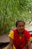 Donna nepalese, Chitwan, Nepal Fotografia Stock Libera da Diritti