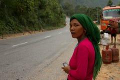 Donna nepalese, Chitwan, Nepal Fotografie Stock