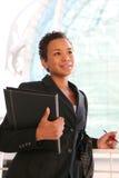 Donna nera di affari Immagini Stock