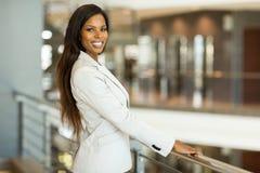 Donna nera di affari Fotografia Stock