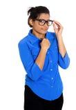 Donna nerd Immagini Stock Libere da Diritti