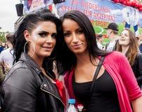 Donna non identificata di bellezza durante la parata di gay pride Immagini Stock