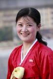 Donna nordcoreana Fotografie Stock