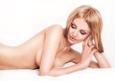 Donna nuda Fotografie Stock Libere da Diritti