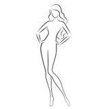 Donna nuda Immagini Stock
