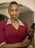 Donna o allievo di affari dell'afroamericano Fotografia Stock Libera da Diritti