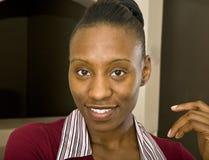 Donna o allievo di affari dell'afroamericano Fotografia Stock