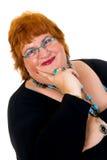 Donna obesa Fotografie Stock