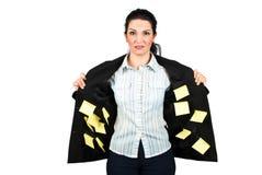 Donna occupata di affari di sforzo Fotografie Stock