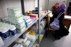 Donna palestinese in clinica Immagini Stock Libere da Diritti