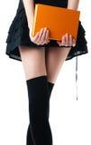 Donna in pannello esterno ed in calze Fotografia Stock Libera da Diritti