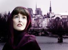 Donna a Parigi Fotografie Stock