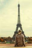 Donna a Parigi Fotografia Stock Libera da Diritti