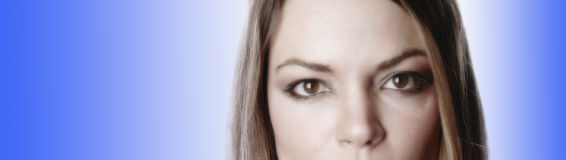 Donna parziale face-3 Fotografia Stock Libera da Diritti