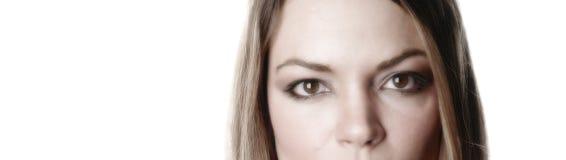 Donna parziale face-5 immagini stock