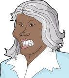 Donna pazza con Gray Hair Immagine Stock Libera da Diritti