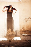 Donna pazzesca Fotografie Stock