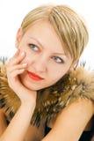 Donna in pelliccia Immagine Stock