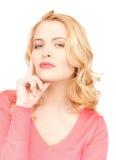 Donna Pensive Immagine Stock