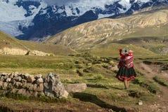 Donna peruviana Fotografia Stock
