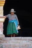 Donna peruviana anziana Fotografia Stock