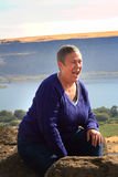 Donna più anziana di risata fotografia stock