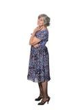 Donna più anziana sorridente felice Fotografie Stock