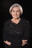 Donna più anziana in vestito elegante Fotografia Stock Libera da Diritti