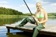 Donna più di pesce Fotografia Stock Libera da Diritti
