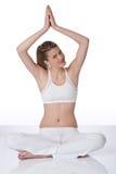 Donna piacevole nella posizione di yoga Fotografia Stock Libera da Diritti