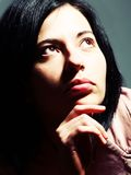 Donna piena d'ammirazione fotografie stock libere da diritti