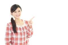 Donna in pigiama fotografia stock