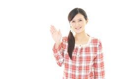 Donna in pigiama immagine stock libera da diritti