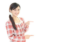 Donna in pigiama fotografia stock libera da diritti