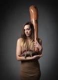 donna preistorica Fotografie Stock