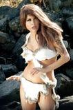 Donna preistorica sexy Immagine Stock