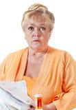 Donna preoccupata Immagini Stock