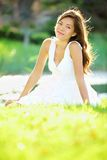 Donna primavera/di estate Fotografia Stock