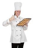 Donna principale del cuoco Fotografie Stock Libere da Diritti