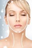 Donna pronta per chirurgia estetica Fotografia Stock Libera da Diritti