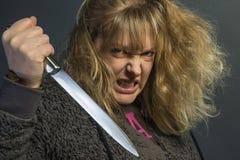 Donna psicotica Fotografie Stock Libere da Diritti